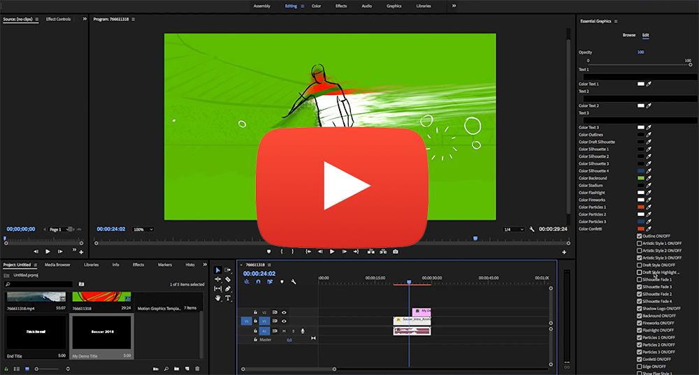 Soccer Intro Animation For Premiere Pro - 1