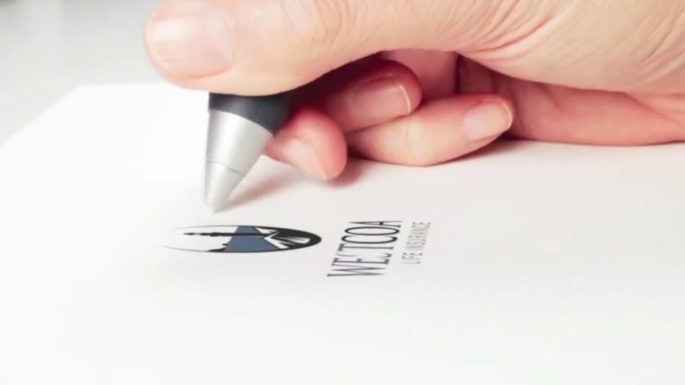 Hand Is Drawing Logo Mock-Up