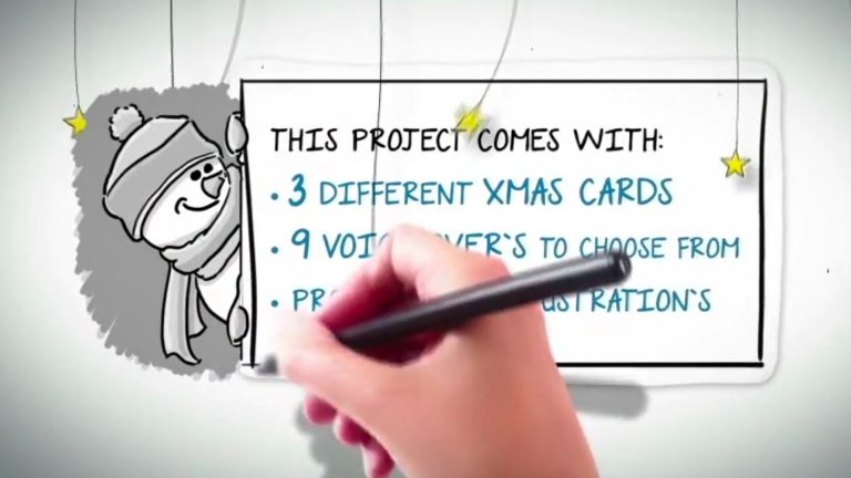 Whiteboard Xmas Cards With Voice Over