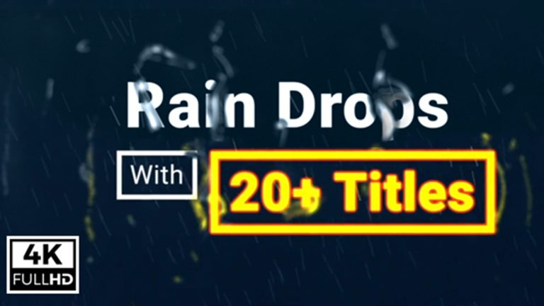 Raindrops With Titles